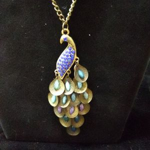 Long Peacock Necklace